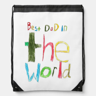 Best Dad in the World Drawstring Bag
