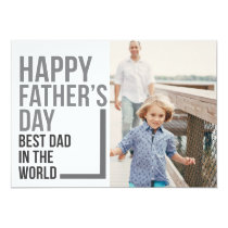Best Dad in the World Father's Day | Photo Card