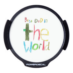 best dad in the world LED car decal at Zazzle