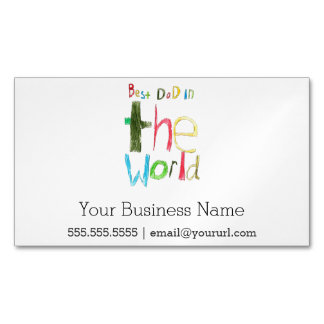 best dad in the world magnetic business card
