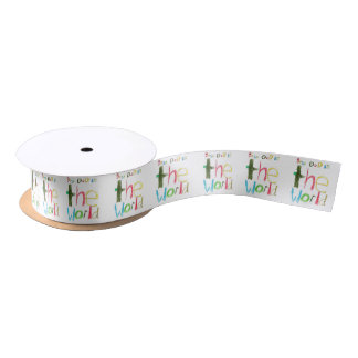 best dad in the world satin ribbon