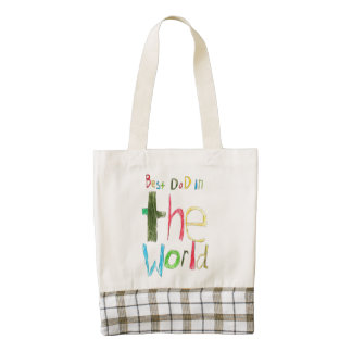 best dad in the world zazzle HEART tote bag
