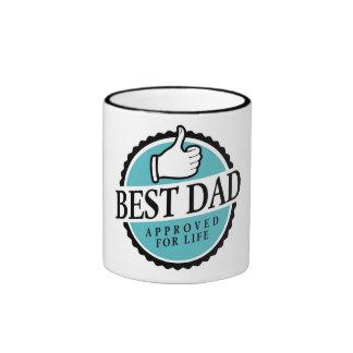 Best dad in vintage style! ringer coffee mug