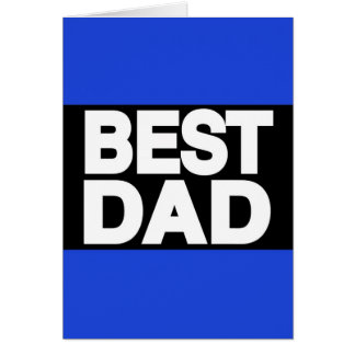 Best Dad Lg Blue Greeting Cards