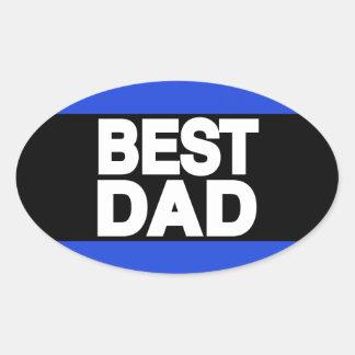 Best Dad Lg Blue Oval Sticker