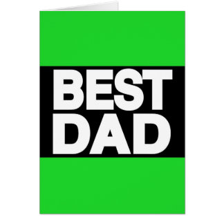 Best Dad Lg Green Greeting Cards