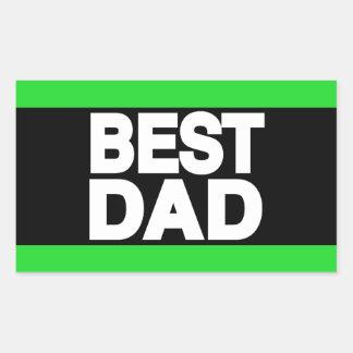 Best Dad Lg Green Rectangular Sticker