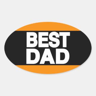 Best Dad Lg Orange Oval Sticker