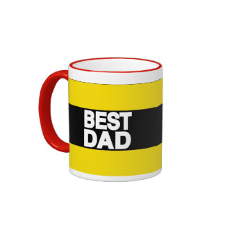 Best Dad Lg Yellow Coffee Mug