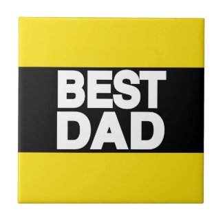 Best Dad Lg Yellow Tile