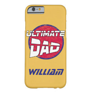 Best Dad Logo with Customizable Name and Colors Barely There iPhone 6 Case