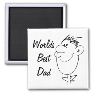 Best Dad 2 Inch Square Magnet