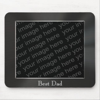 Best Dad Metal Photo Frame Mousepad Mousepads