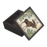 Best Dad Moose Elk and Trees Wood Keepsake Box Premium Jewelry Boxes