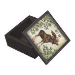Best Dad Moose Elk and Trees Wood Keepsake Box Premium Trinket Box