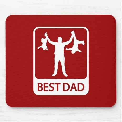 Best Dad Mousepad - Funny Father Holding Children