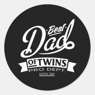 Best Dad Of Twins Pro Dept. Super Dad Classic Round Sticker