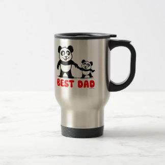 Best Dad Panda 15 Oz Stainless Steel Travel Mug