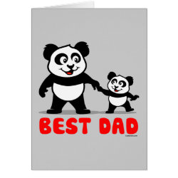 Greeting Card with Best Dad design