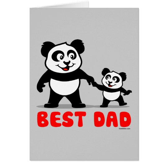 Best Dad Panda Card