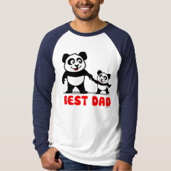 Men's Canvas Long Sleeve Raglan T-Shirt with Best Dad design
