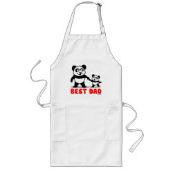 Long Apron with Best Dad design