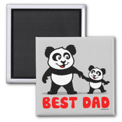 Square Magnet with Best Dad design