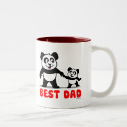 Two-Tone Mug with Best Dad design