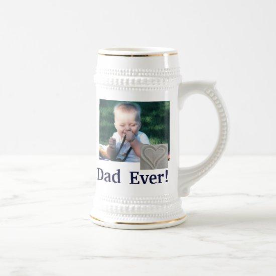 Best Dad Photo Stein