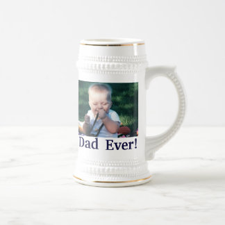 Best Dad Photo Stein Coffee Mugs