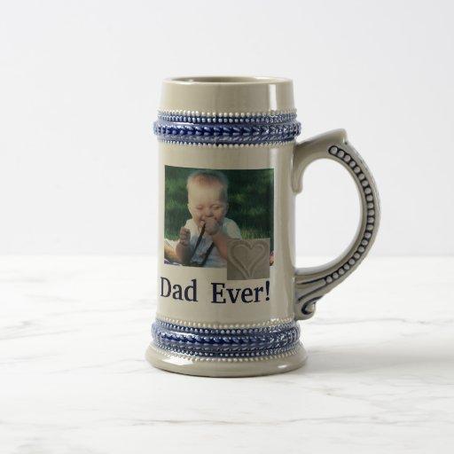 Best Dad Photo Stein Coffee Mugs