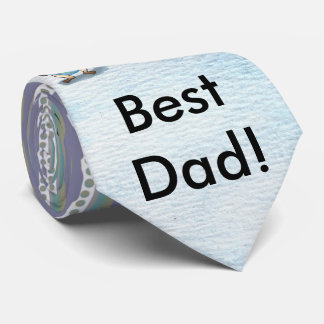 Best Dad Pug Father and Pug Baby personalizable Neck Tie