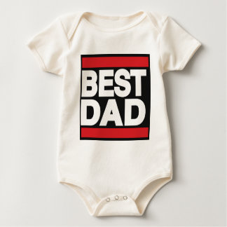 Best Dad Red Baby Bodysuit