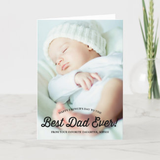 Best Dad | Retro Calligraphy Father's Day Card