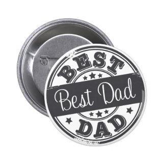 Best Dad - rubber stamp effect - 2 Inch Round Button