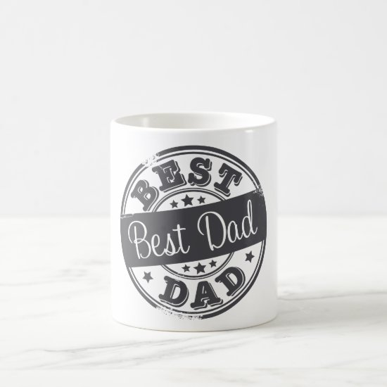 Best Dad - rubber stamp effect - Coffee Mug