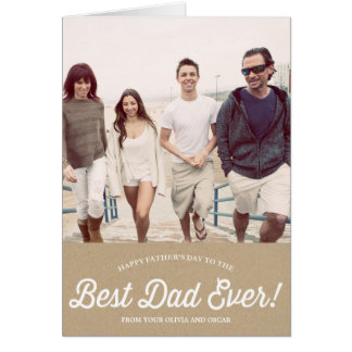 Best Dad Script | Karaft Paper Father's Day Card