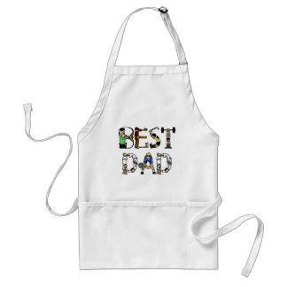 Best Dad Sports Fun Text Adult Apron
