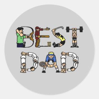 Best Dad Sports Fun Text Sticker