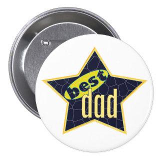 Best Dad Star 2 Pinback Button