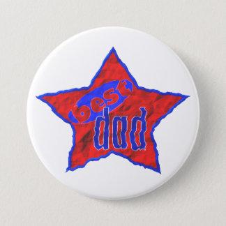 Best Dad Star Pinback Button