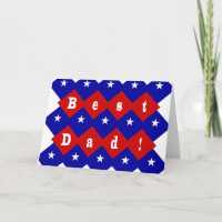 Best Dad Stars and Diamonds Card