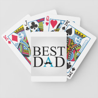 Best Dad with a mustache over A Bicycle Playing Cards