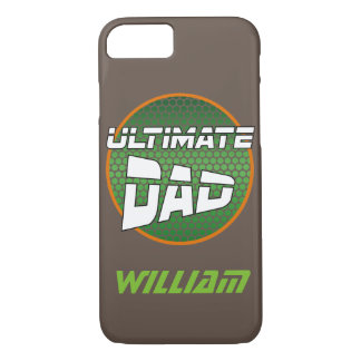 Best Dad with Customizable Name Green and Orange iPhone 7 Case