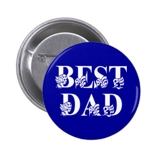 Best Dad with Flags White Text Buttons