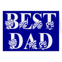 Best Dad with Flags White Text Card