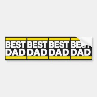 Best Dad Yellow Bumper Sticker