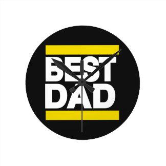 Best Dad Yellow Round Clock