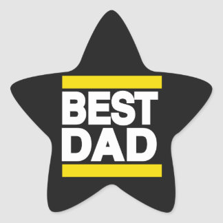 Best Dad Yellow Star Sticker