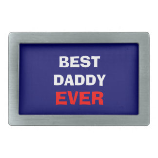 Best Daddy Ever Belt Buckle - red, white and blue